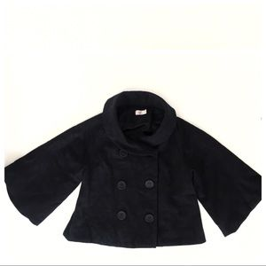 NWOT Double Breasted Cropped Peacoat Swing Coat XS